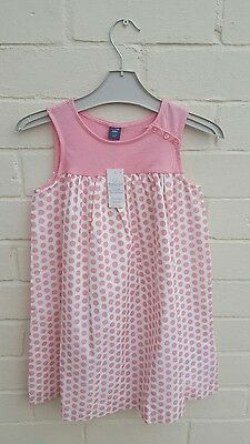 Gap Holiday Pink Spotty Dress AGE 5 YEARS BNWT girls RRP £16.95 lined summer