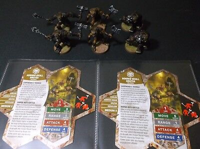 Heroscape - HORNED SKULL BRUTES x 2 Lot - New & Unplayed - Complete