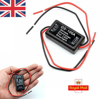 12V-24V Flash Strobe Controller Flasher Module for LED Brake Stop Light Lamp UK
