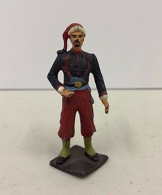 Vintage Metal Lead Toy Soldiers Hand Painted Unmarked Unknown Soldier 60mm