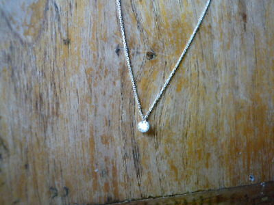 Kette, 925 Sterling Silber Minimalist Mini Zirkonia, so shiny and sparkly