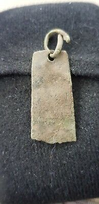 Viking Ancient Bronze pendant beautiful ancient artifact from Uk 1970s L55a
