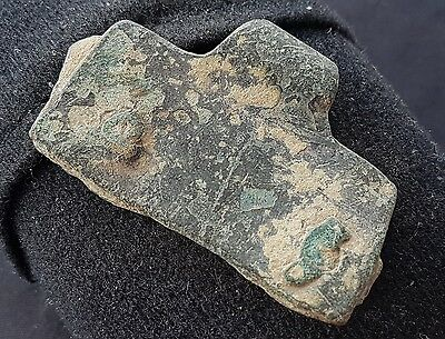 Nice large Roman bronze military horse buckle plate found in Lancashire L37k