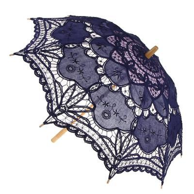 Women's Vintage Lace Umbrella Bridal Parasol Fancy Party Dress Up Prop