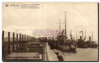 CPA Zeebrugge Dragueurs de mines angiais English mine sweepers Engelsche