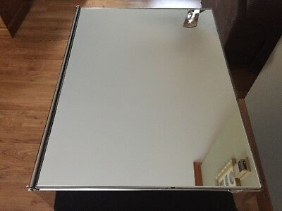 Vintage Metal Chrome Bathroom Wall Medicine Cabinet W/mirror And Shelves