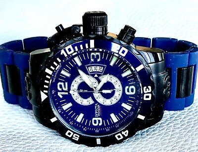 Invicta Mens Corduba Collection Blue & Black Stainless Steel Chronograph Watch..