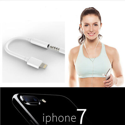 iPhone 7 Lightning Headphone Jack 3.5mm Earphone Adapter Audio Cable Headset Aux