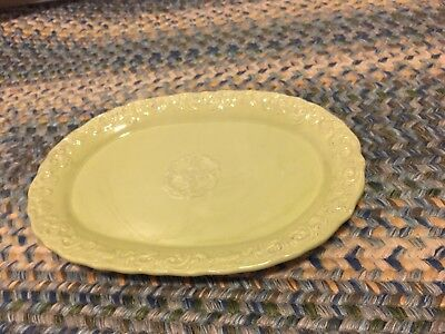 "Home Essentials and Beyond Madison Collection 12""Platter, Embossed Scroll(Nice!)"