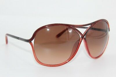 Tom Ford Tf 184 50F Vicky Red Gradient Sunglasses Authentic 65-10 W/case