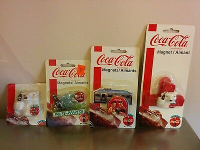 Coca Cola Magnets  Set of 4  Officially Licensed - New Factory Sealed