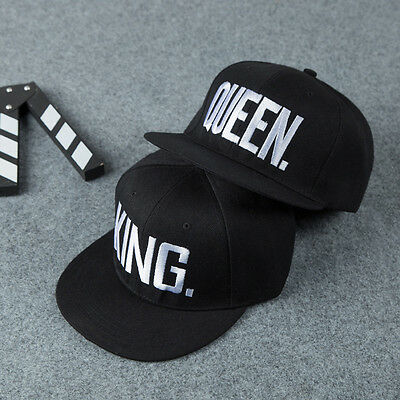 King And Queen Letter Snapback Hats Hip-Hop Adjustable Bboy Baseball Cap Unisex