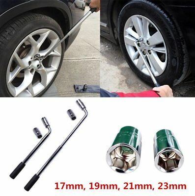 Wheel Master Tyre Wrench Telescopic Extendable Socket Nut 17-19/21-23mm For Cars