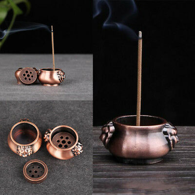 Holes Pure Copper Incense Burner Holder Stick Cones Home Grden Decor Decorations