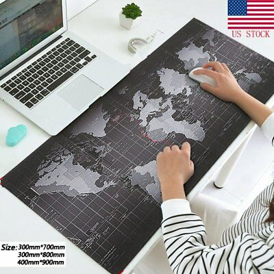Large XXL Size Anti-Slip World Map Speed Game Mouse Pad Gaming Mat US Seller