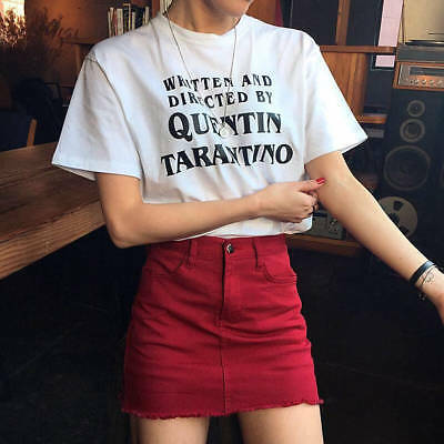 Written And Directed Quentin Tarantino T-Shirt Women Funny tees tshirt Clothes