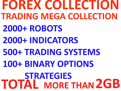 FOREX – TRADING –MEGA COLLECTION(2K+ Robots, 2K+ Indicators,500+ Trading system)
