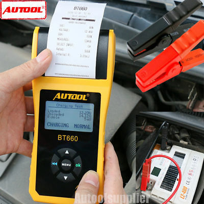 AUTOOL BT-660 Car Battery System Tester Cranking/Charging Test 12/24V W/ Printer