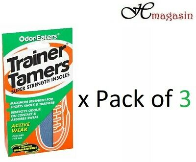 3 x Odor-Eaters Trainer Tamers SUPER STRENGTH INSOLES WASHABLE (3 Pairs)