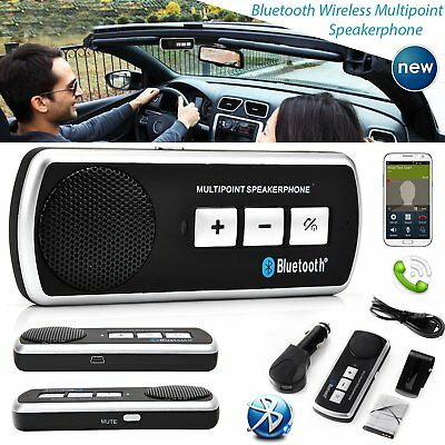 Bluetooth Multipoint Lautsprecher Für Handy Handsfree Auto Kit Speakerphone DE