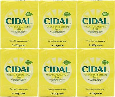 12x Cidal Natural Citricidal Antibacterial Bath Soap Bars 125g Each
