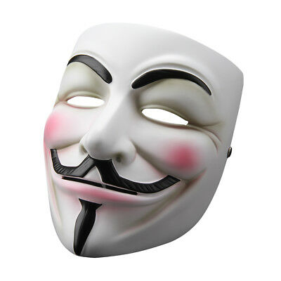 V for Vendetta Mask Anonymous Guy Fawkes Fancy Dress Resin Costume Cosplay