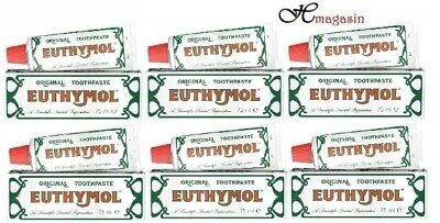 6 x Euthymol 75ml Toothpaste - Multibuy (Pack of 6)
