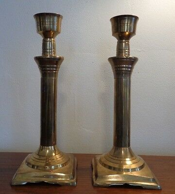 Vintage Gorgeous Sold Brass Candle Sticks ~ PAIR ~ Very Large