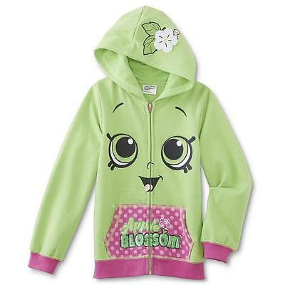 New Shopkins Girls Fall Hoodie Fleece Lining Zipper Closure
