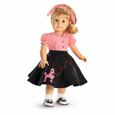 NEW American Girl Maryellen Poodle Skirt Outfit Sock Hop 1950 Diner Saddle Shoes