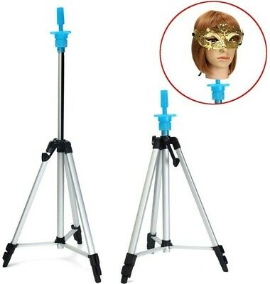 Adjustable Tripod Stand Hair Mannequin Training Head Holder Hairdressing Clamp