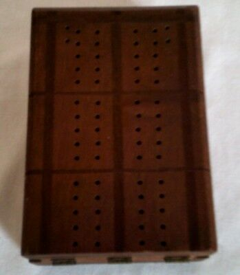 Drueke S Natural Finish Hardwood Cribbage Board