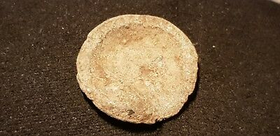Lovely Rare Byzantine lead dish type token similar to the coins. edge decor L35j