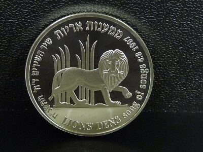 Israel 1997 Lions Den Pomegranate Song of Songs 2 New Sheqalim Silver Proof Coin
