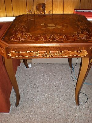 Vintage Italian Inlaid Wood  Marquetry Card Table, Roulette, Backgammon, Chess,