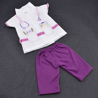Fashion Doll Doctor Wear Set for 18 Inch Dolls Accessories Collection Clothes