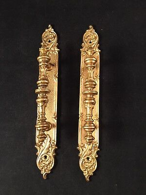 Vintage Ornate Brass French Style Hotel Door Handle Architectural A1