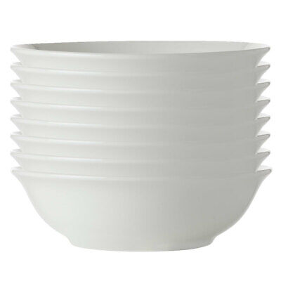 8x Maxwell Williams White Basics Round Soup/Cereal Bowl 17.5cm/Pasta/Rice/Noodle