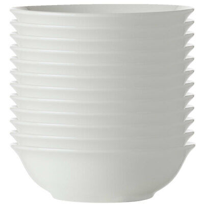 12x Maxwell Williams White Basic Round Soup/Cereal Bowl 17.5cm/Pasta/Rice/Noodle