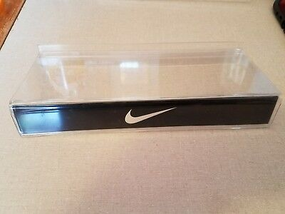 Nike Black & Clear Plastic Slat wall Store Shoe Display Shelf