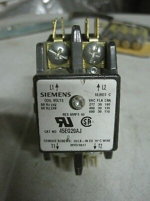 Siemens 24 Volt Contactor Relay 2 Pole 30 Amp 45EG20AJ New Old Stock Free Ship