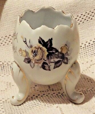 VINTAGE 1950's NAPCOWARE HAND PAINTED PORCELAIN EGG VASE - MADE IN JAPAN