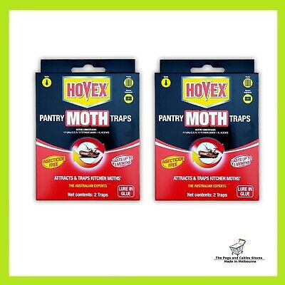 Hovex Pantry Moth Traps Pesticide Free Non-Toxic (2 packs, 2 traps each pack)