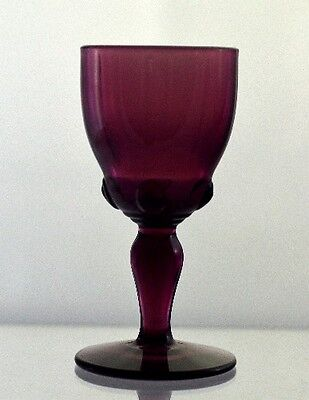 Cordial Vintage New Martinsville Moondrops Amethyst Glass Fine Quality