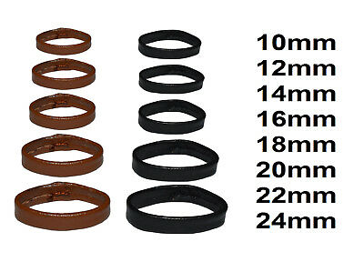 Real Leather Watch Strap Band Buckle Keeper Ring Hoop Loop Holder Retainer New