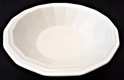 """Homer Laughlin Colonial White Dover Unmarked Serving Salad Vegetable Bowl - 9"""""""