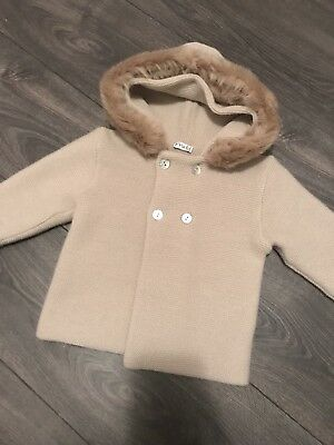 Mebi Knit Sweater With Faux Fur kids 18 months
