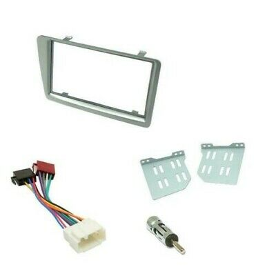 Honda Civic Car CD Stereo Radio Double DIN Silver Facia Fascia Fitting Kit Panel