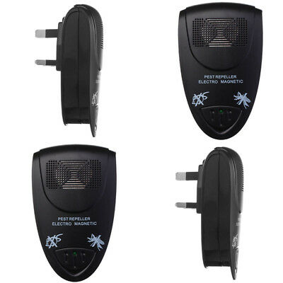 4X Whole House Fly Mouse Mice Spider Insect Ultra Sonic UK Plug In Pest Repeller