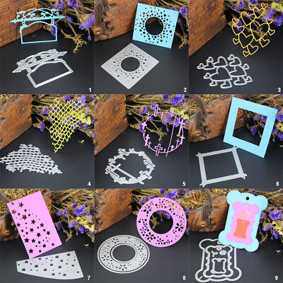 Paper Card Frame DIY Cutting Dies Metal Stencil Scrapbooking Album Embossing